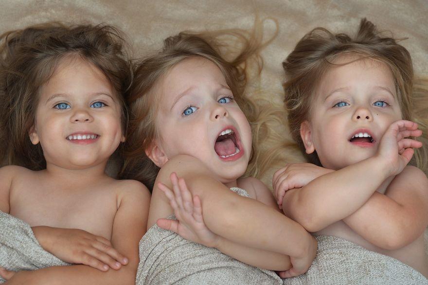 Vẻ đáng yêu của 3 bé gái sinh 3 'hút hồn' dân mạng - Ảnh 12