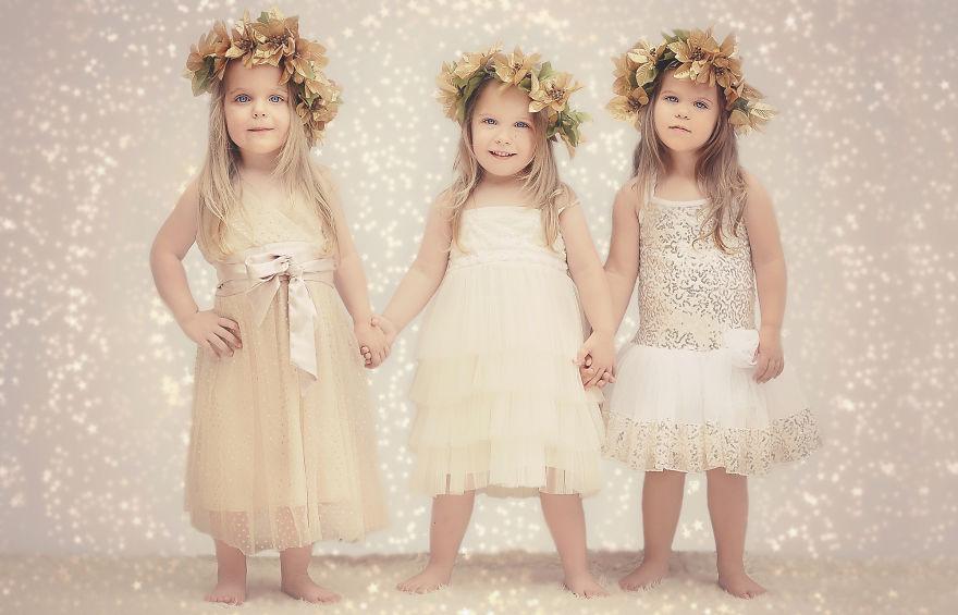 Vẻ đáng yêu của 3 bé gái sinh 3 'hút hồn' dân mạng - Ảnh 15