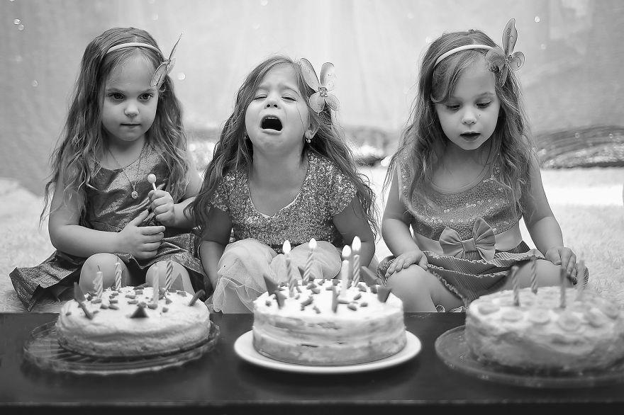 Vẻ đáng yêu của 3 bé gái sinh 3 'hút hồn' dân mạng - Ảnh 3