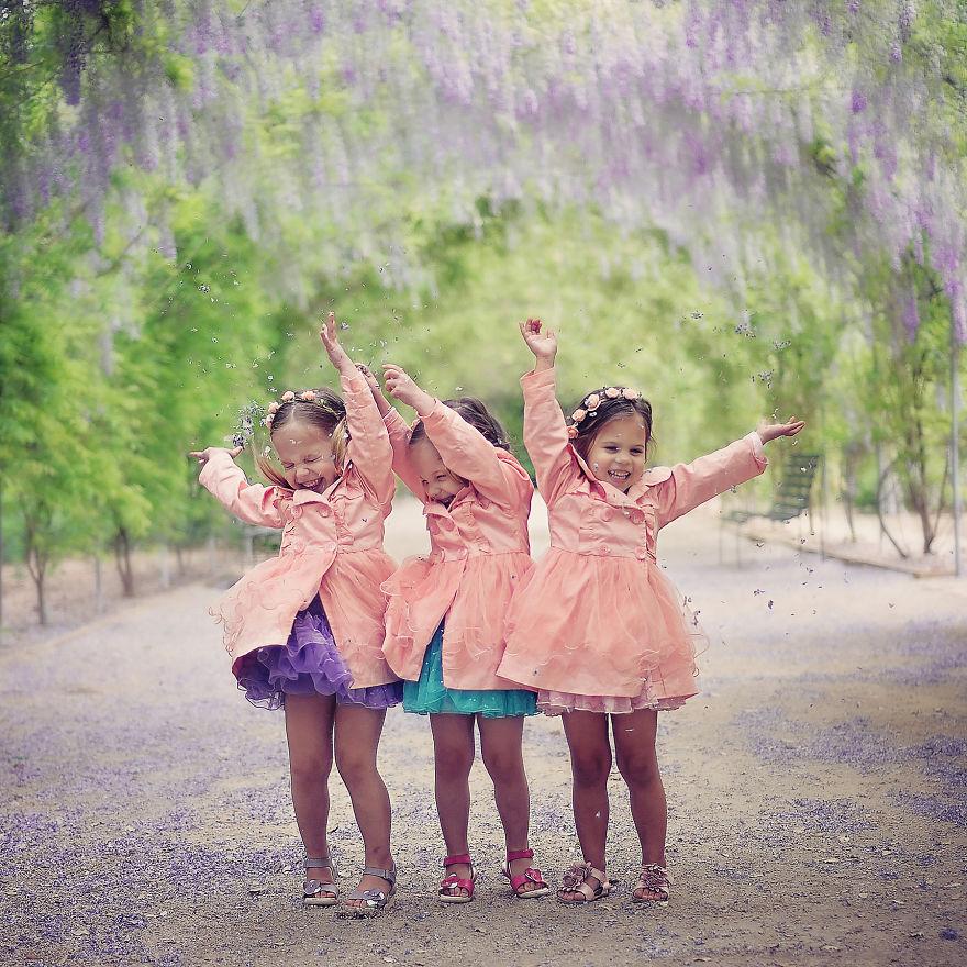 Vẻ đáng yêu của 3 bé gái sinh 3 'hút hồn' dân mạng - Ảnh 6