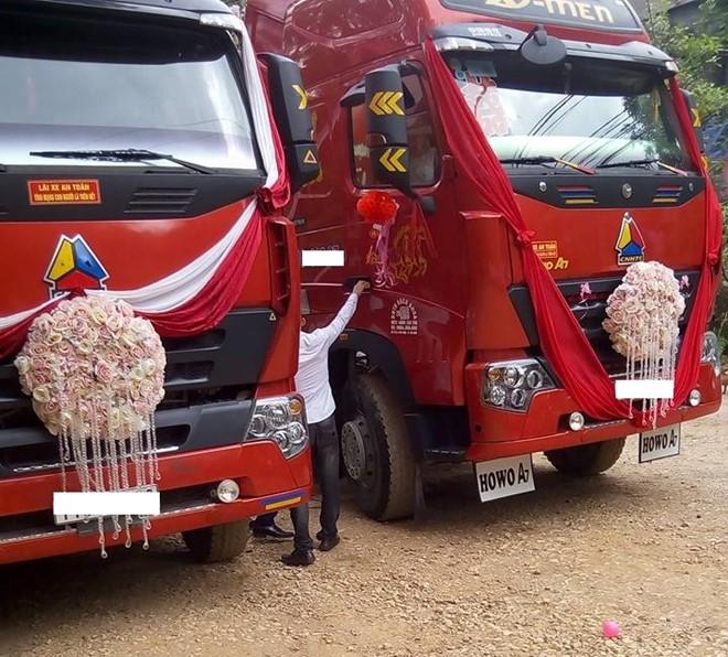 Màn rước dâu bằng xe đầu kéo của cặp 9X Cao Bằng - Ảnh 2