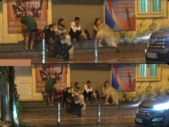 Cặp đôi hoàn cảnh bất chấp mưa bão chụp ảnh cưới trên phố - Ảnh 3