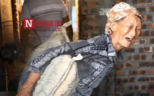 Cảm động cụ bà 80 tuổi kiếm tiền nuôi cháu ăn học - Ảnh 1