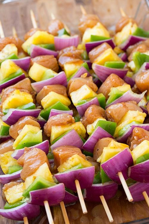 Kebab gà Hawaii – thịt gà xiên nướng ngon miệng lại dễ làm - Ảnh 3