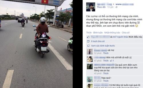Kinh hoàng vì những kiểu chở con bằng xe máy của các bậc cha mẹ - Ảnh 3