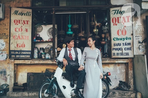 Yêu nhau lê la phố xá nên cưới cũng phải chất Hà Nội cổ kính và ngọt ngào - Ảnh 1