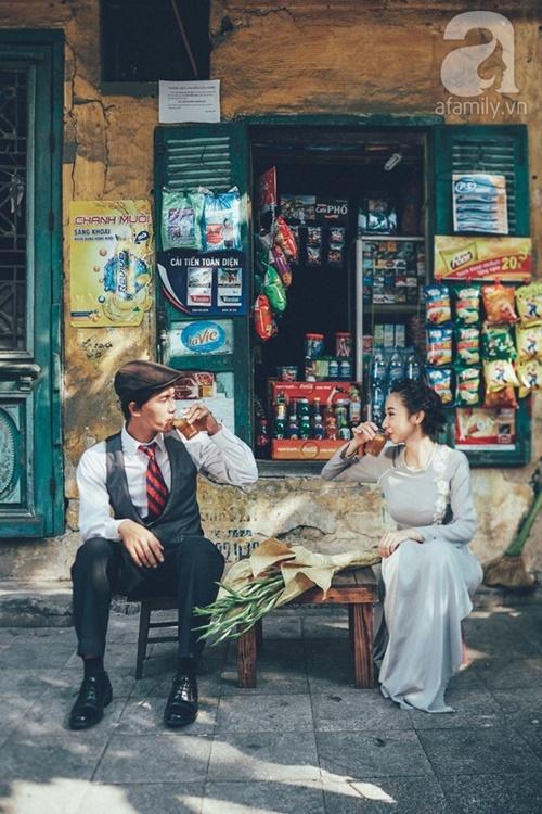 Yêu nhau lê la phố xá nên cưới cũng phải chất Hà Nội cổ kính và ngọt ngào - Ảnh 11