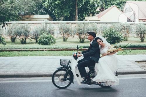 Yêu nhau lê la phố xá nên cưới cũng phải chất Hà Nội cổ kính và ngọt ngào - Ảnh 8