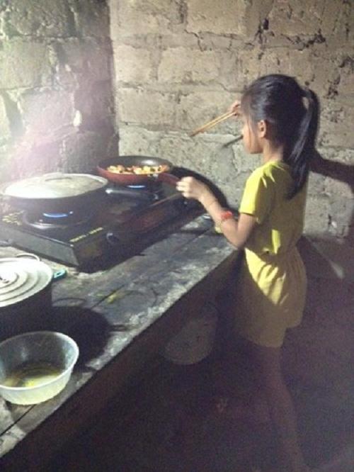 'Cô Tấm 9 tuổi' siêu đảm đang khiến nhiều mẹ ước ao - Ảnh 2