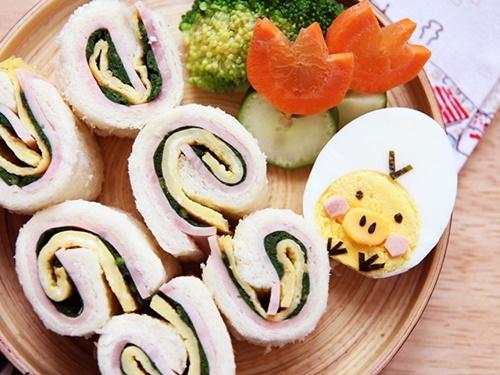Bánh sandwich cuộn rau trứng – hộp cơm trưa công sở nhiều màu sắc - Ảnh 9