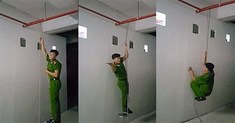 Kỹ năng thoát hiểm bằng sợi dây trong các vụ hỏa hoạn ở nhà cao tầng - Ảnh 1