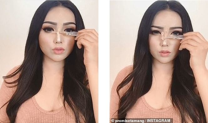 Sống ảo đến tận cùng: Trang điểm mũi cao, mặt V-line không cần phẫu thuật - Ảnh 3