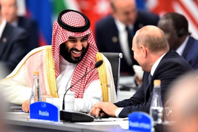 Điện Kremlin giải thích màn đập tay của ông Putin với Thái tử Arab tại Hội nghị G20 - Ảnh 1