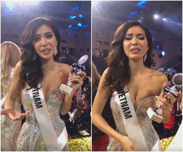 Nhận giải Missosologist's Choice nhưng Minh Tú vẫn khóc xin lỗi vì trượt top 5 Hoa hậu Siêu quốc gia - Ảnh 1