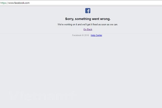 Facebook bất ngờ bị sập trong 3 giờ liền - Ảnh 1