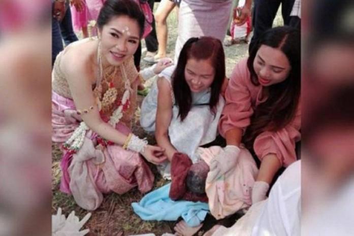 Đám cưới buộc phải dừng lại giữa chừng vì khách mời đột nhiên sinh em bé - Ảnh 1