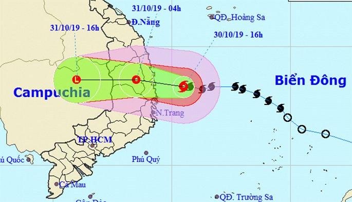 Đêm nay, bão số 5 cấp 12 sẽ đổ bộ vào Việt Nam - Ảnh 1