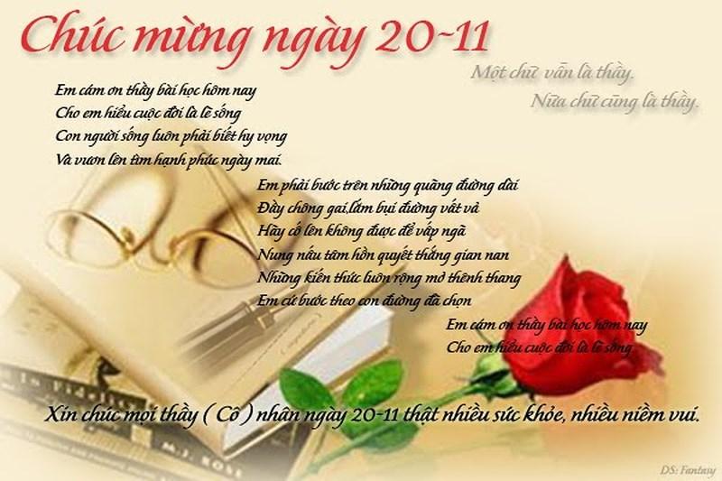 Những bài thơ hay và ý nghĩa chúc mừng thầy cô ngày 20/11 - Ảnh 1