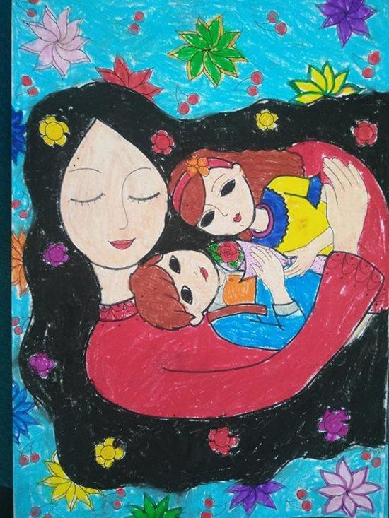 Tranh vẽ ngày 20/11 ấn tượng mà học sinh dành tặng thầy cô giáo - Ảnh 11
