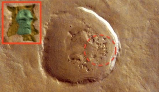 Phát hiện dấu ấn gương mặt người ngoài hành tinh trên sao Hoả - Ảnh 3