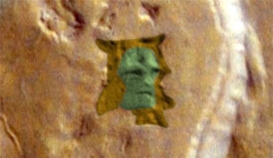 Phát hiện dấu ấn gương mặt người ngoài hành tinh trên sao Hoả - Ảnh 2