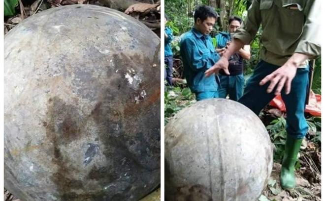 Xác định nguồn gốc quả cầu kim loại rơi xuống rừng ở Tuyên Quang - Ảnh 1