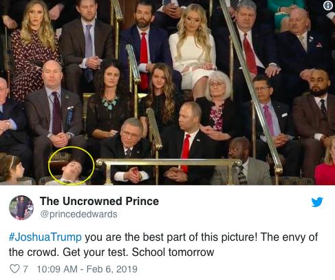 Khách mời nhí nổi tiếng vì ngủ gật khi Tổng thống Mỹ đọc thông điệp liên bang - Ảnh 2