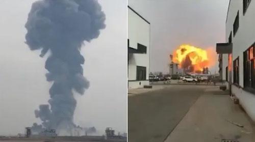 Trung Quốc: Nổ nhà máy hóa chất, ít nhất 36 người thương vong - Ảnh 1