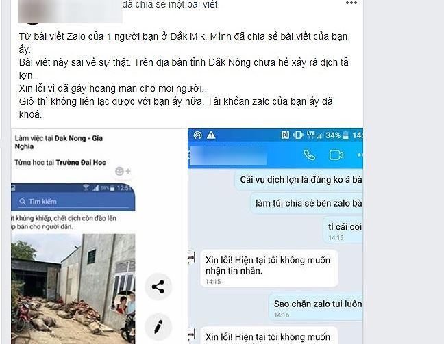 Phạt người tung tin bịa đặt thịt lợn dịch trên Facebook 10 triệu đồng - Ảnh 1