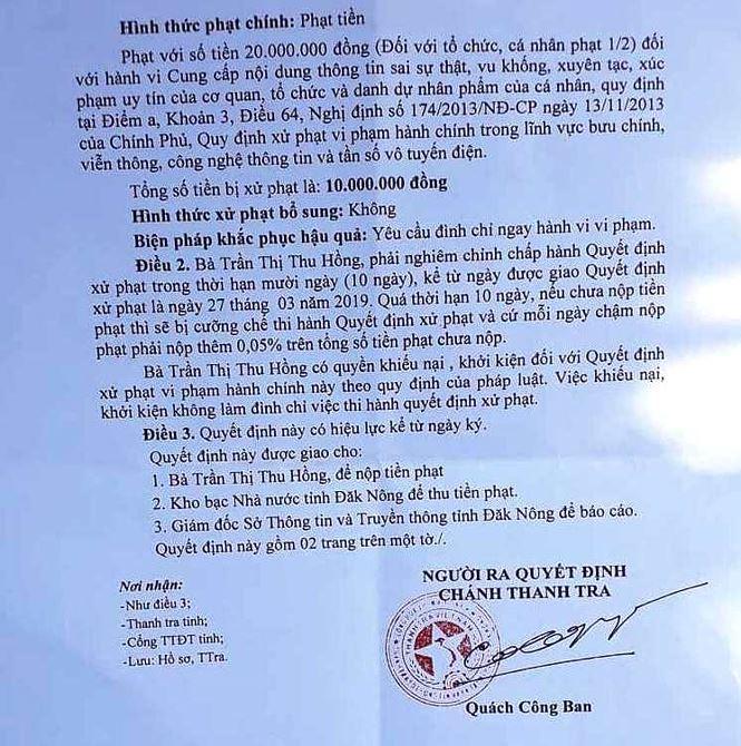 Phạt người tung tin bịa đặt thịt lợn dịch trên Facebook 10 triệu đồng - Ảnh 2