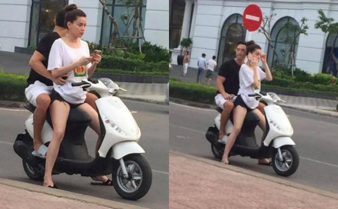"""Hồ Ngọc Hà """"tái phạm"""" lỗi không đội mũ bảo hiểm khi đi xe máy cùng Kim Lý - Ảnh 1"""