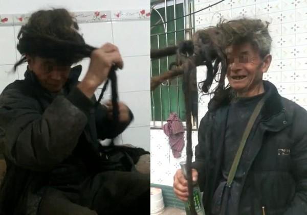 Cận cảnh mái tóc 54 năm không một lần cắt của ông lão 77 tuổi - Ảnh 1