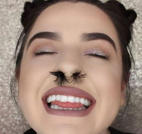 Lạ: Trào lưu làm đẹp bằng... lông mũi của các thiếu nữ trên mạng - Ảnh 2