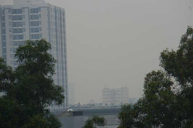 Sương mù bất ngờ xuất hiện từ sáng đến chiều tại TP.Hồ Chí Minh - Ảnh 5