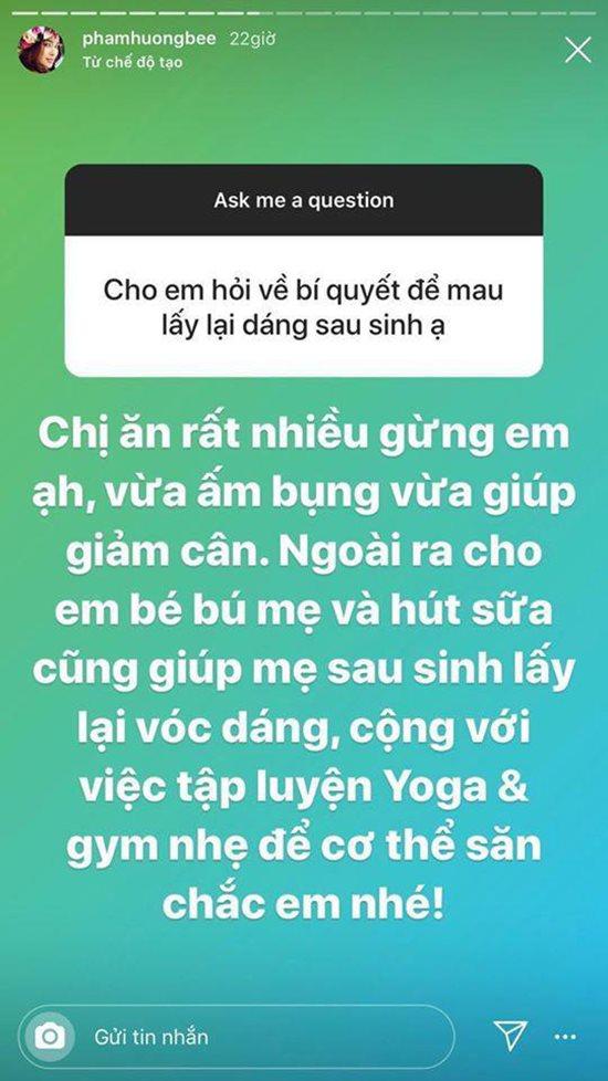 Hoa hậu Phạm Hương chia sẻ bí quyết giữ gìn vóc dáng khi đang nuôi con nhỏ - Ảnh 2
