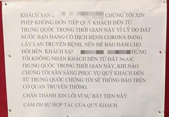 Khách sạn Việt khó xử với du khách Trung Quốc vì dịch corona - Ảnh 1