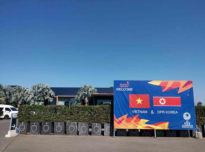 Thầy Park 'thiết quân luật' với truyền thông tại nơi đóng quân của U23 Việt Nam - Ảnh 1
