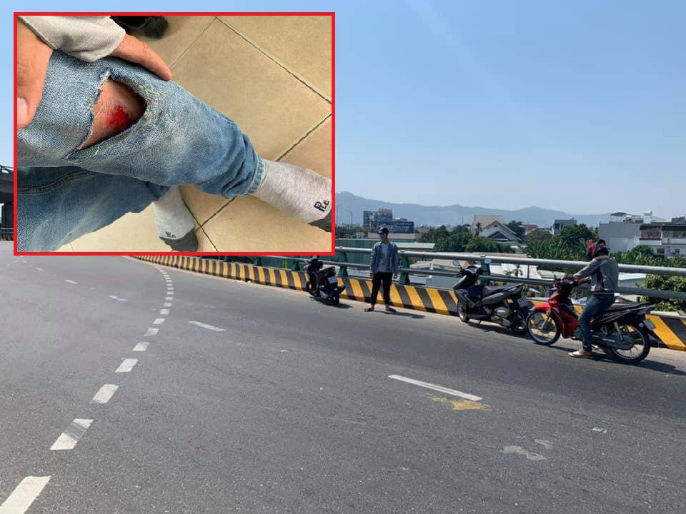 Đà Nẵng: Dầu tràn ra đường hàng chục xe máy gặp nạn - Ảnh 1