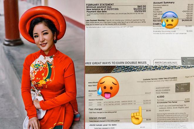 Ngày Valentine, Thúy Nga than thở vì bị trộm cà thẻ tín dụng 4.000 USD - Ảnh 1