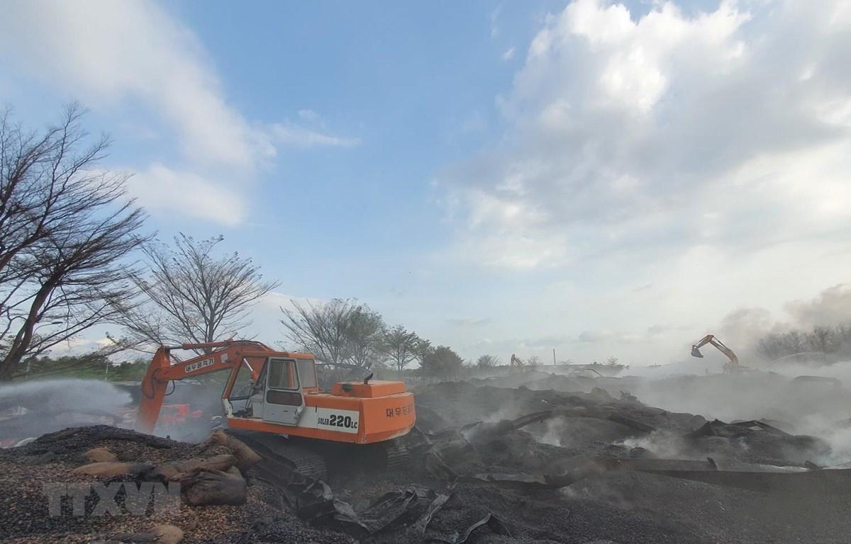 Bà Rịa Vũng Tàu: Cháy kho chứa 14.000 tấn hạt điều, thiệt hại hàng trăm tỷ đồng - Ảnh 1