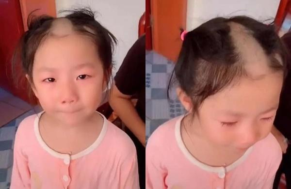 """Bắt chước clip cắt tóc trên mạng cô bé 5 tuổi khiến dân mạng """"câm nín"""" vì kiểu đầu chẳng giống ai - Ảnh 1"""
