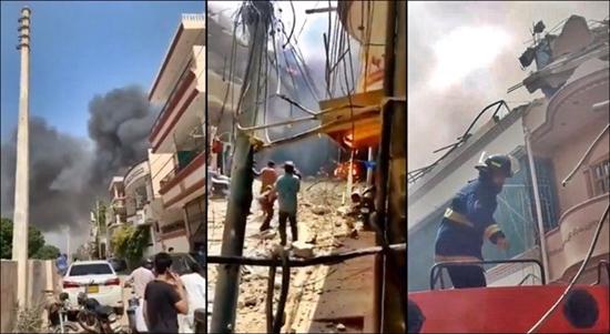 Thảm kịch máy bay chở 107 người đâm xuống khu dân cư ở Pakistan - Ảnh 1