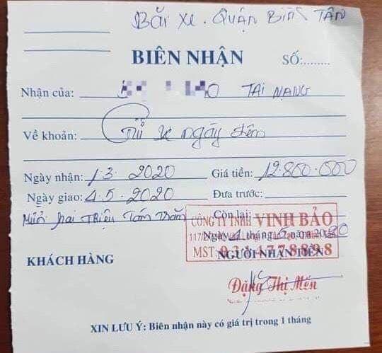 Bị xe máy va chạm, chủ xe tải phải móc túi gần 13 triệu tiền phí gửi xe - Ảnh 2