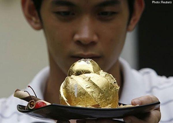 Choáng với món bánh socola được đính 15 viên kim cương và phủ 24 carat vàng  - Ảnh 1