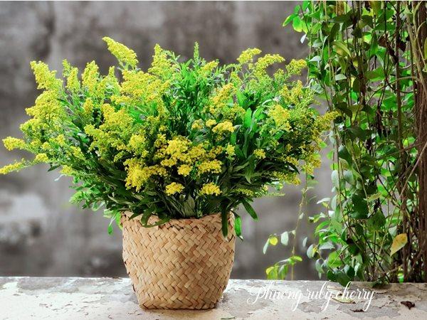 Mẹ trẻ Hà thành gây sốt với trào lưu cắm hoa bằng giỏ cói đẹp mê hồn - Ảnh 15