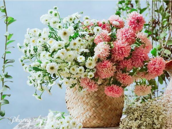 Mẹ trẻ Hà thành gây sốt với trào lưu cắm hoa bằng giỏ cói đẹp mê hồn - Ảnh 17