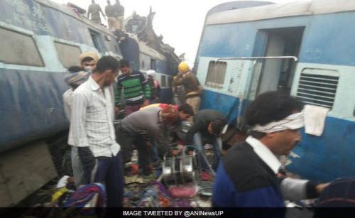Kinh hoàng tai nạn tàu hỏa ở Ấn Độ, hơn 60 người tử vong - Ảnh 2