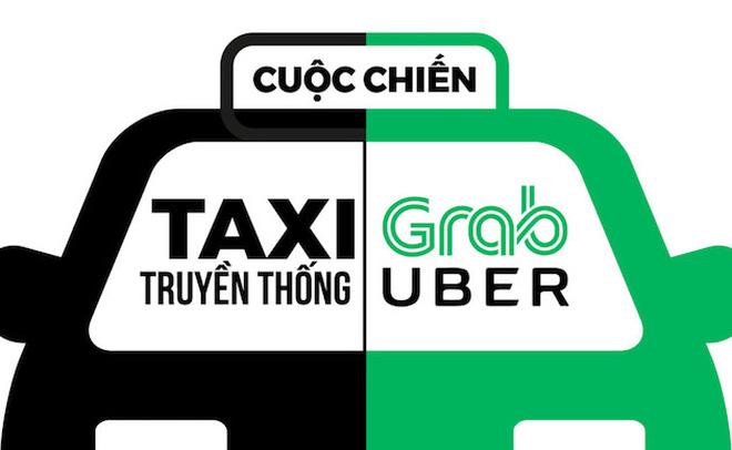 """Taxi truyền thống liên tục """"tố"""" Uber, Grab phá giá thị trường, các Bộ nói gì? - Ảnh 1"""