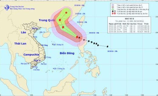 Bão Haima vào Biển Đông, trở thành cơn bão số 8 - Ảnh 1