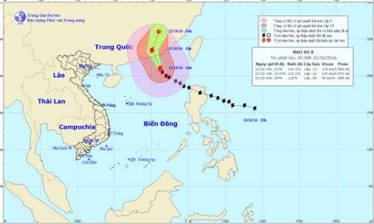 Dự báo thời tiết hôm nay 21/10: Bão số 8 giật cấp 16 vào Trung Quốc - Ảnh 1